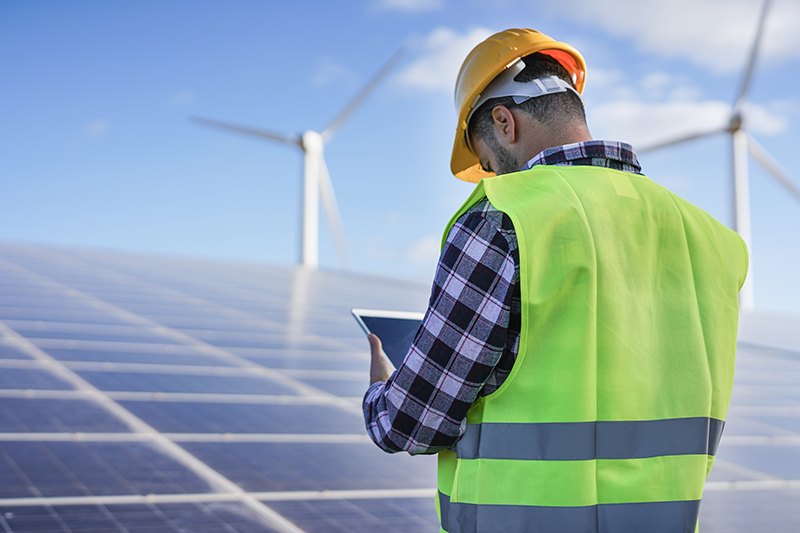 man-working-at-solar-power-station